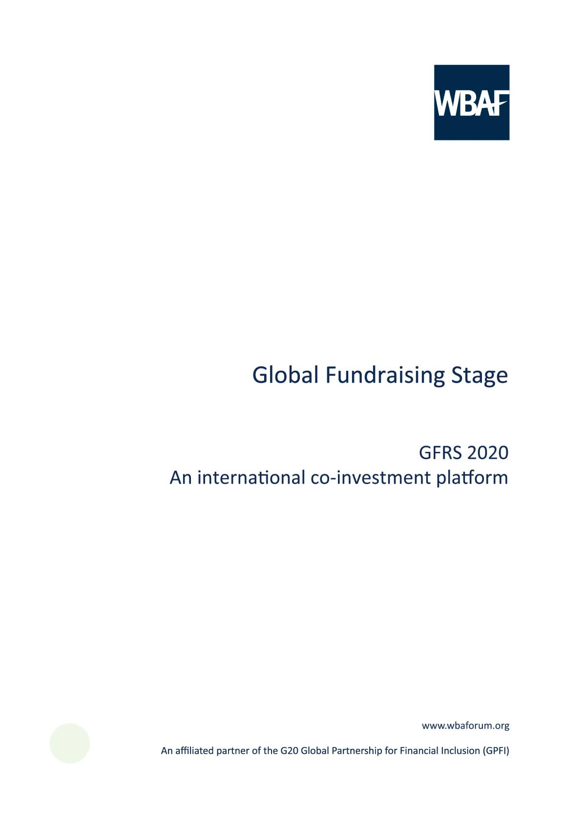 Global Fundraising Stage - GFRS 2020