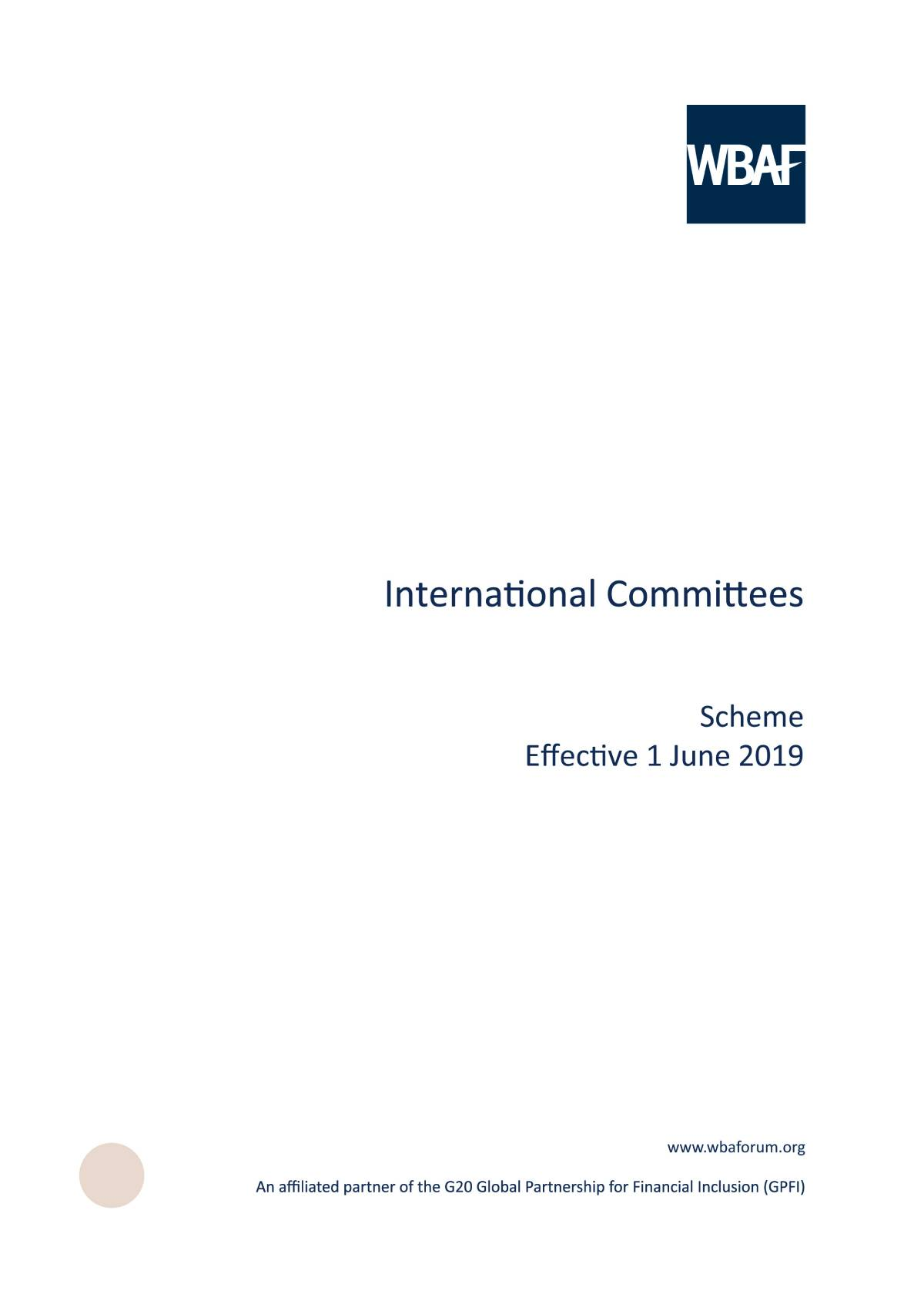 International Committees - Scheme