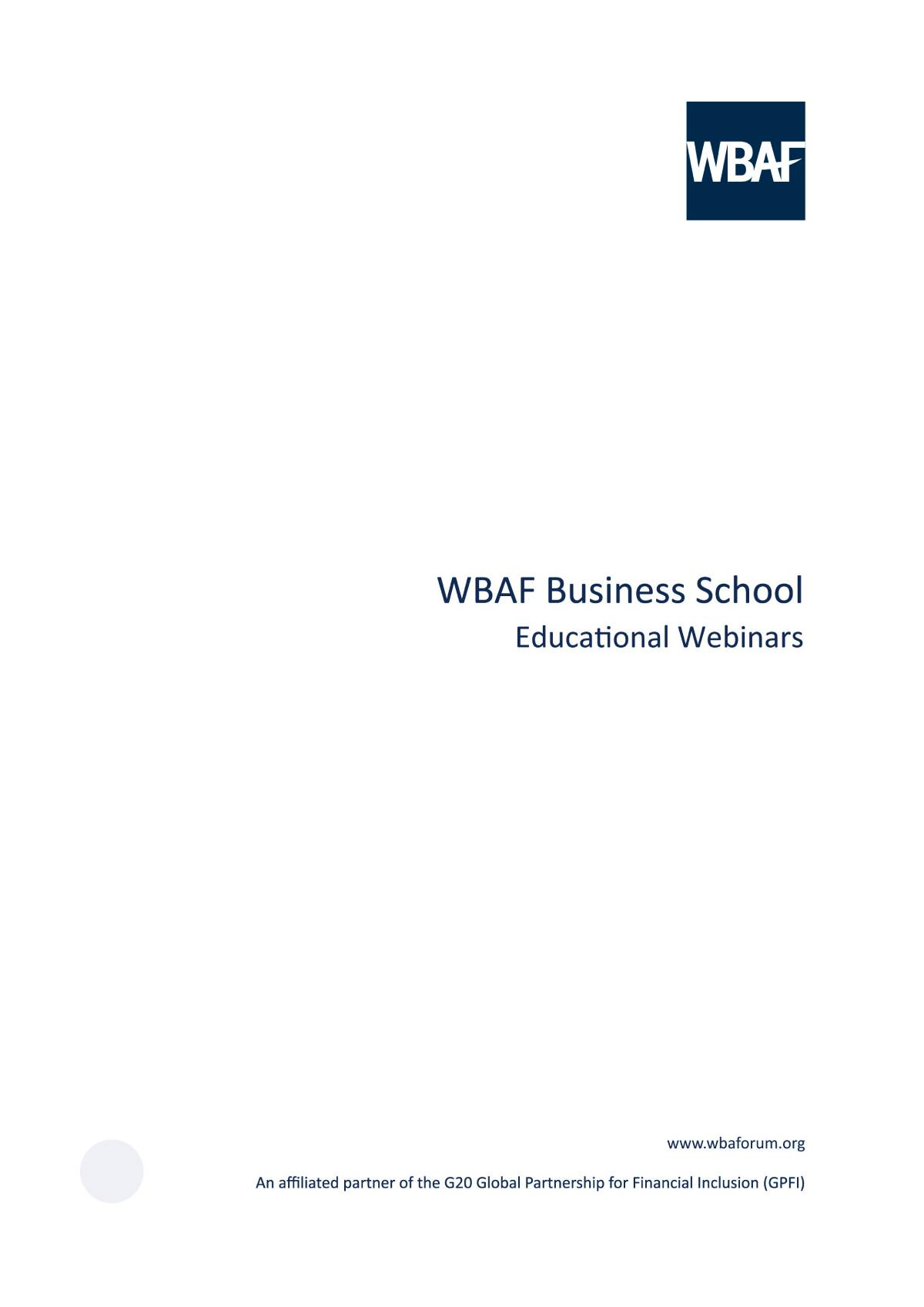 Wbaf Business School - Educational Webinars