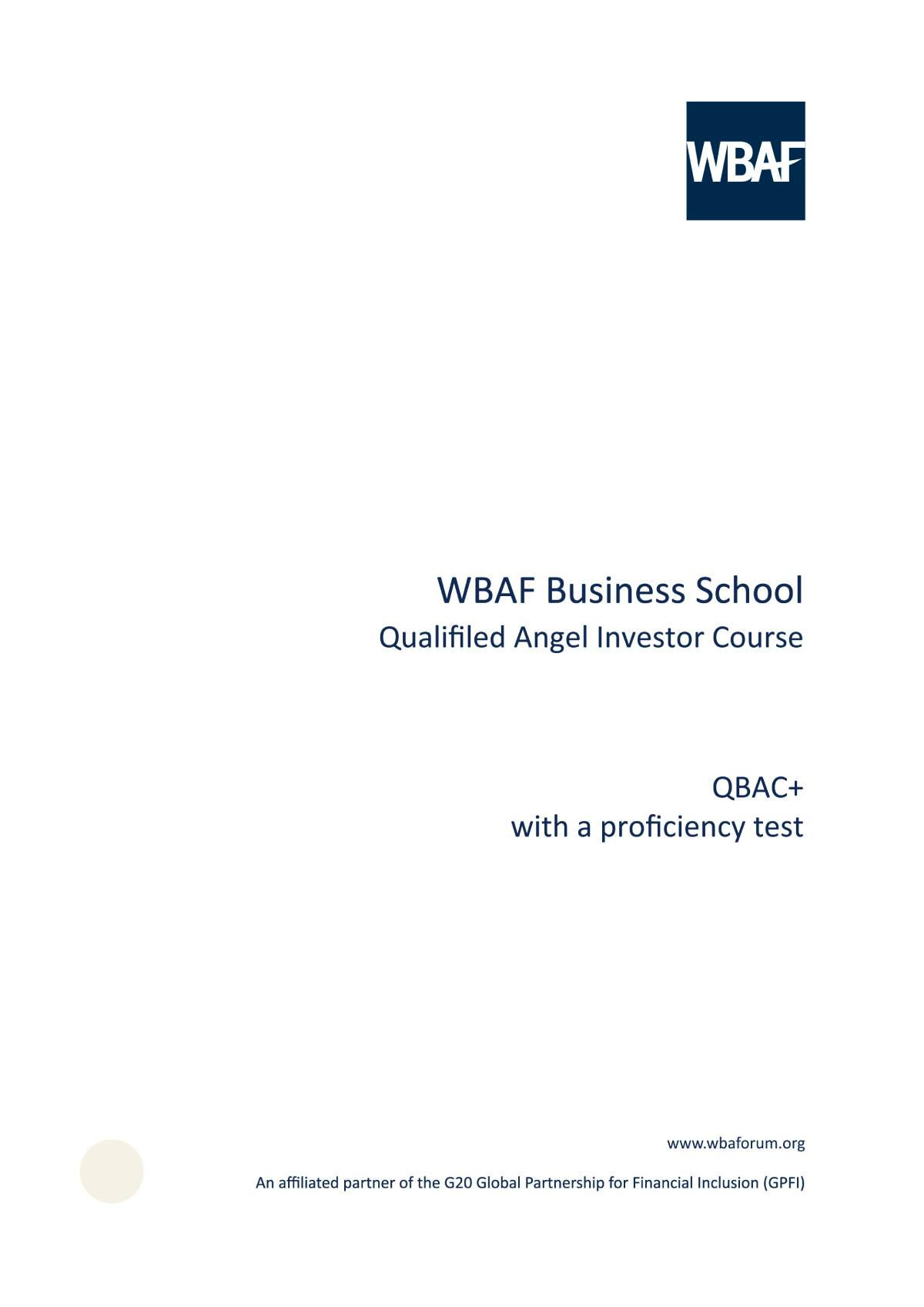 Wbaf Business School -  QBAC